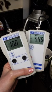 Freshly Ionized Water [Not Stored] PH 1.0 and ORP -545